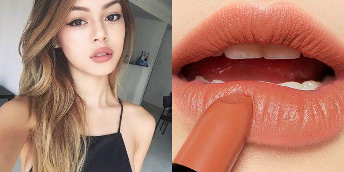 Son môi màu cam san hô pha đất